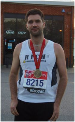 Richard ran the london marathon for FMA UK
